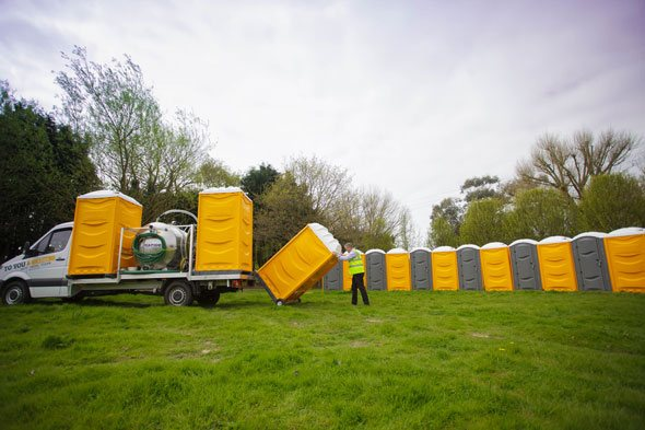 Portable Toilets being delivered